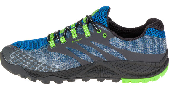 Merrell All Out Charge Gore-Tex - Chaussures - vert/bleu